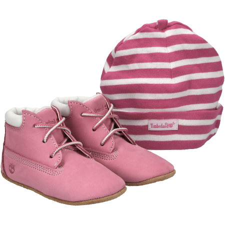 Timberland Crib Bootie with Hat - Pink - Paar