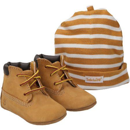 Timberland Crib Bootie with Hat - Hellbraun - Paar