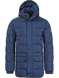 Timberland Kleidung Herren AMVETB GOOSE EYE PARKA DRESS BLUES