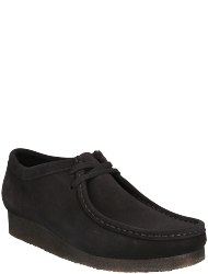 Clarks Herrenschuhe Wallabee Black Sde