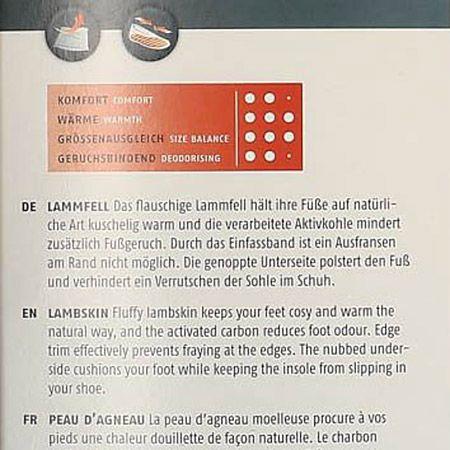 Bergal 86969 Lammfell - Braun - Seitenansicht