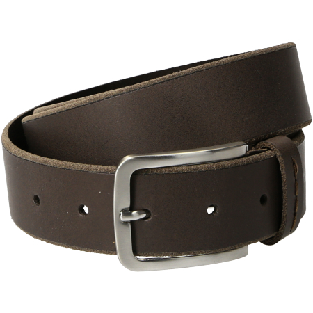Timberland Man Cow Leather Belt - Braun - Seitenansicht