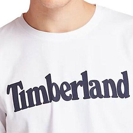 Timberland K-R Brand Reg Tee Lin - Weiß - Draufsicht