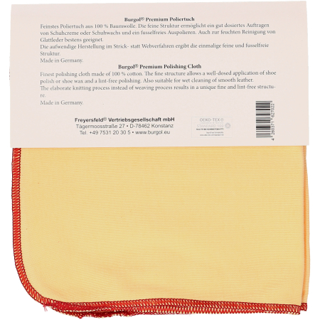 Burgol Premium Poliertuch - Neutral - Seitenansicht