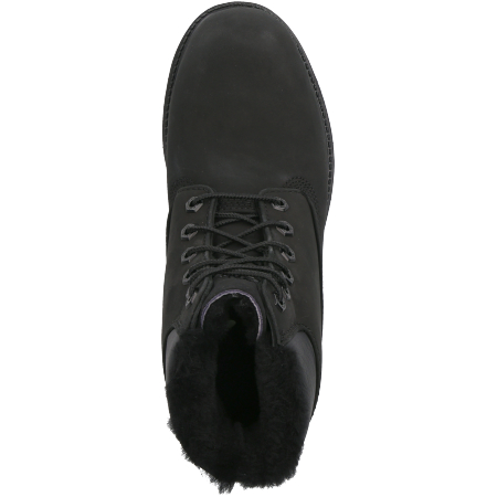 Timberland 6in Premium Shearling Lined WP - Schwarz - Draufsicht