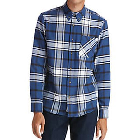 Timberland LS Heavy Flannel check - Blau, kombiniert - Seitenansicht