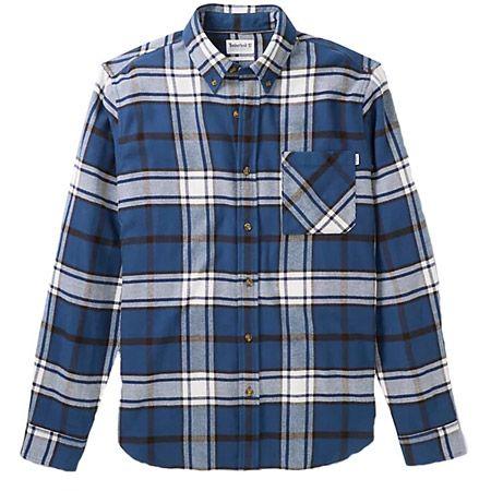 Timberland LS Heavy Flannel check - Blau, kombiniert - Hauptansicht