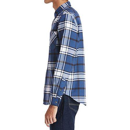 Timberland LS Heavy Flannel check - Blau, kombiniert - Draufsicht