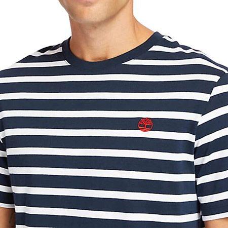Timberland YD Stripe Tee - Blau - Draufsicht