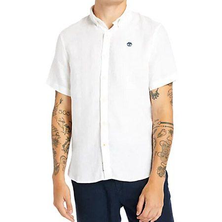 Timberland SS Linen Shirt - Weiß - Hauptansicht