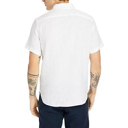 Timberland SS Linen Shirt - Weiß - Sohle