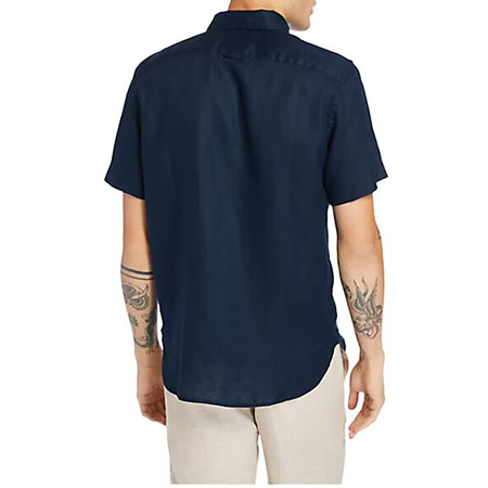 Timberland A2DCC433 SS Linen Shirt - Blau - Sohle