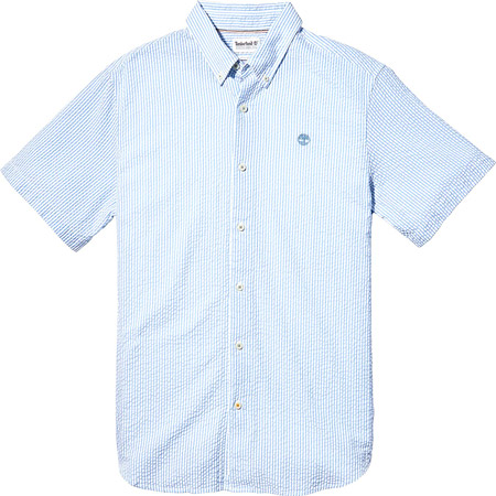 Timberland A2FYYG33 SS Sersucker Shirt - Blau - Hauptansicht