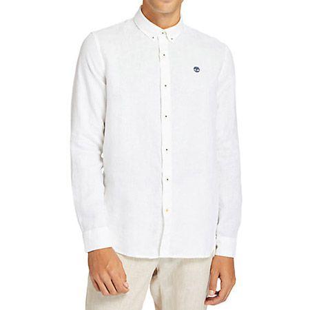 Timberland LS Linen Shirt - Weiß - Hauptansicht