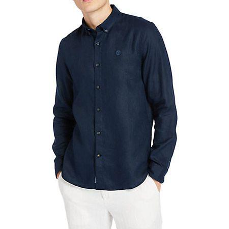 Timberland LS Linen Shirt - Blau - Hauptansicht