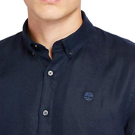 Timberland LS Linen Shirt - Blau - Draufsicht