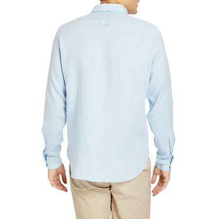 Timberland LS Linen Shirt - Blau - Sohle