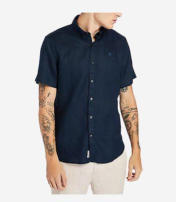 Timberland Kleidung Herren A2DCC433 SS Linen Shirt