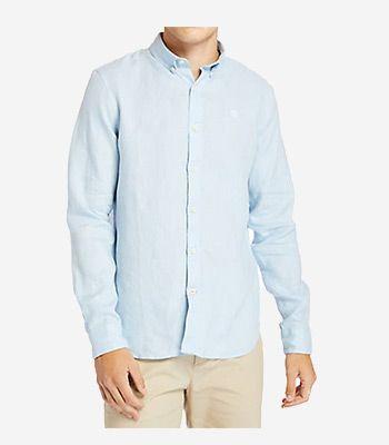 Timberland Kleidung Herren LS Linen Shirt