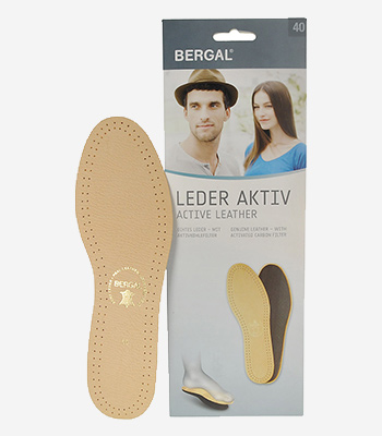 Bergal Accessoires Leder aktiv Einlegesohle