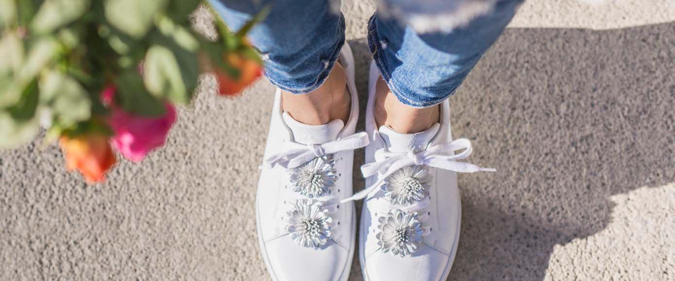 Blumenmotiv im Flora Trend für FüßeSchuhe mit sind die P8kN0wXOn