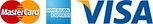 Kreditkarten-Logos: Visa, Master Card, American Express
