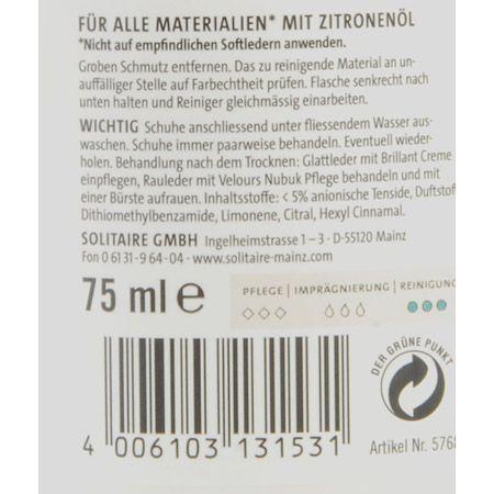 Solitaire Shoe Clean - 75 ml - Seitenansicht